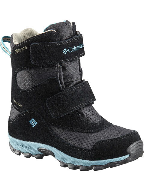 Columbia Parkers Peak Hook-and-Loop Boots Youth Black/Pacific Rim